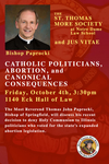 Catholic Politicians, Abortion, and Canonical Consequences by St. Thomas More Society and Jus Vitae