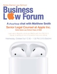A (FaceTime) Chat with Matthew Smith by Business Law Forum