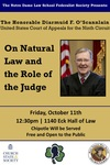 On Natural Law and the Role of the Judge by Federalist Society; Program on Church, State & Society; and St. Thomas More Society