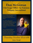 Don McGowan: Chief Legal Officer for Pokémon by Intellectual Property Law Society
