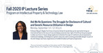 Fall 2020 IP Lecture Series: Ask Me No Questions by Notre Dame Law School and NDLS Program on IP & Technology Law