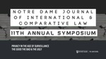 2021 Journal of International & Comparative Law Symposium by Notre Dame Law School and Journal of International & Comparative Law