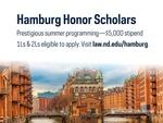 Hamburg Honor Scholars by Notre Dame Law School